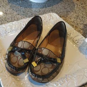 Coach loafers sz 7.5 . definite wear .Looks good.